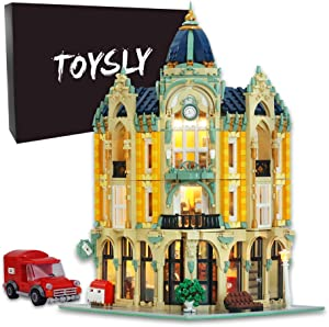 TOYSLY Street Corner Post Office MOC Building Blocks and Engineering Toy, Construction Set to Build, Model Set and Assembly Toy for Teens and Adult 4004Pieces