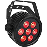 OPPSK Stage Par Light with 70W 7LED Penta Color RGBWA Sound Activated Auto Programm Remote DMX Control for DJ Wedding…
