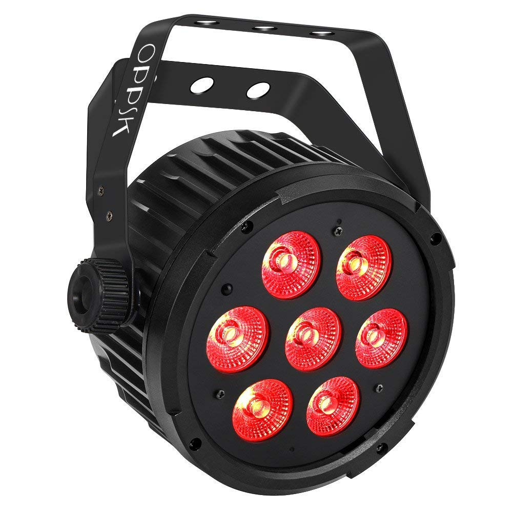 Stage Light, OPPSK 70W Super Bright Par Lights with RGBWA LED Par by DMX IR Remote Control Sound Activated for DJ Wedding Christmas New Year Party Stage Lighting by OPPSK