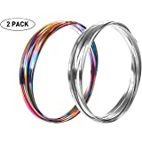 Hbitsae 3D Magic Flow Ring, Kinetic Ring, Spiral Spring Toy ,for Adult and Child Science Education, Interaction, Stress-Relieving New Toys 2 Pack