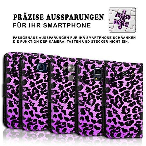 Wallet Book Style Flip Handy Tasche Case Schutz Hülle Schale Motiv Etui für Apple iPhone 5 / 5S - Design Flip MVD391