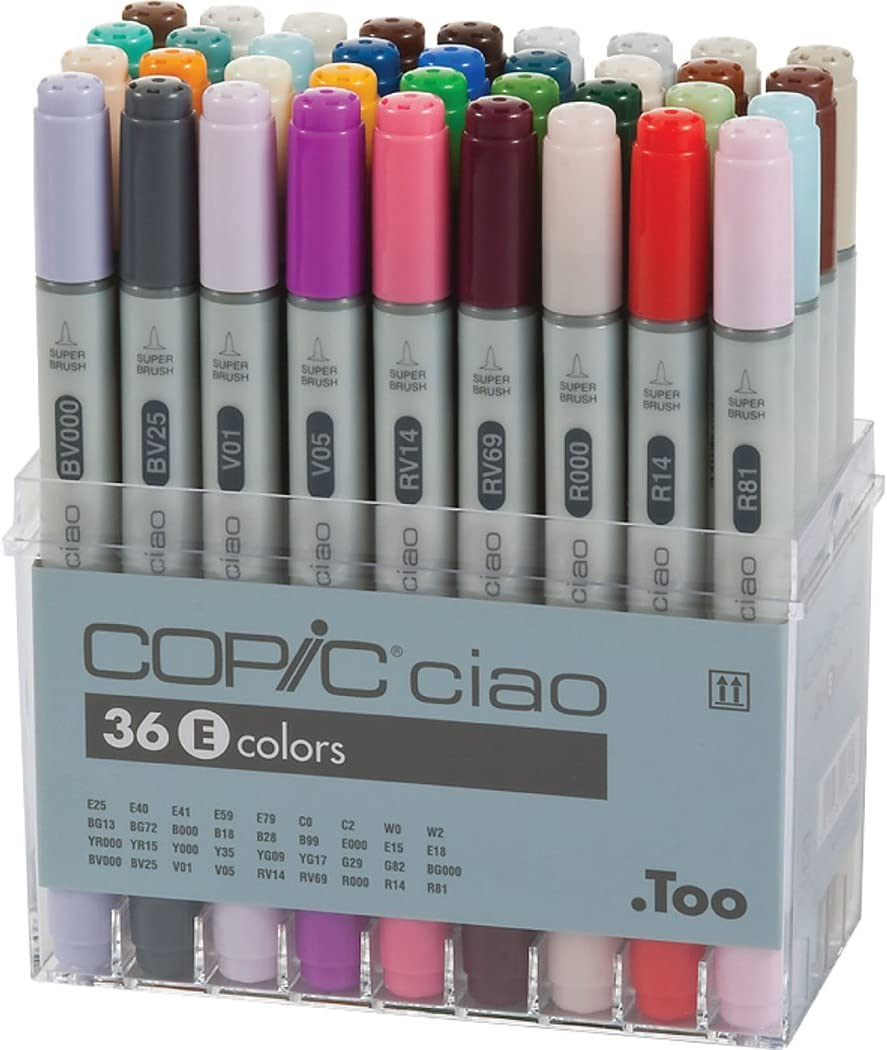 Copic CMI36E Ciao Marker Set 36 Color Set E