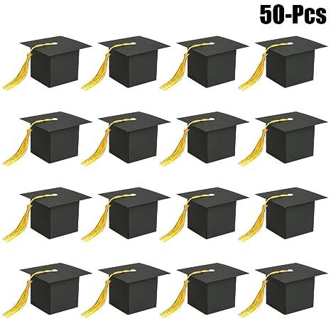 48PCS Paper Graduation Cap Shape Nontoxic Creative Party Supplies for Decoration