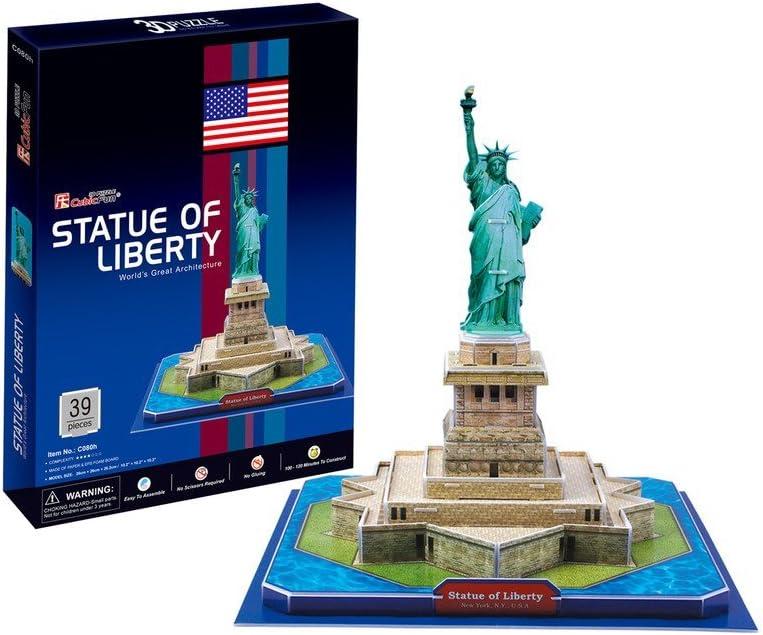 CubicFun Puzzle 3D Estatua de la Libertad, 39 Piezas (771C080)