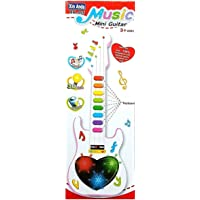 ANVITTOYWORLD Musical Mini 3D Guitar Instrument with Sound and 3D Lightning Effects Learning Toy for Boys and Girls