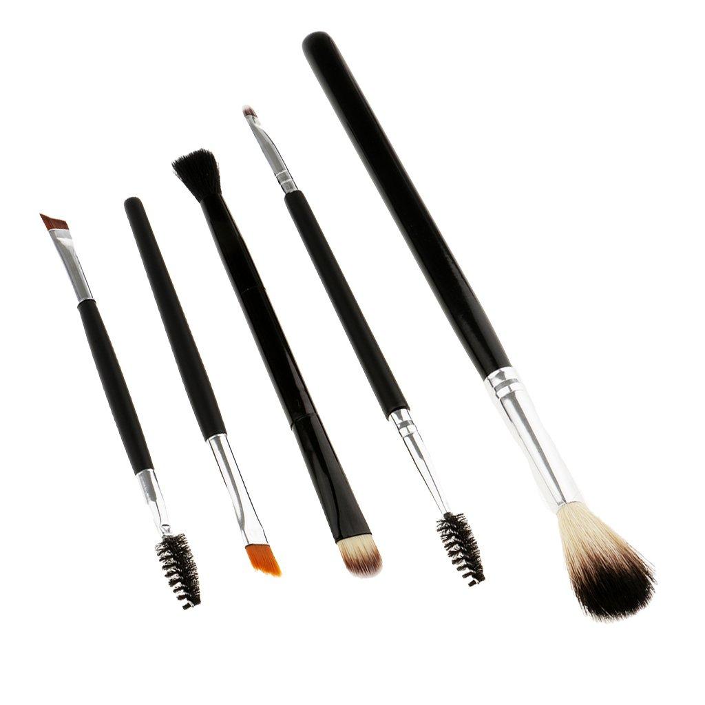 Sharplace 5pcs Pinceaux de Maquillage à Fond de Teint, Mascara à Cils, Lip Liner, Eyeliner, Ombre à Paupières