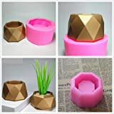 MeiMeiDa Flower Pot Silicone Mold - Succulent Plant Vase Gypsum Cement Molds Concrete Clay Mould, Ashtray Resin Moulds, Candle Holder Wax Casting Mold for DIY Crafts Making