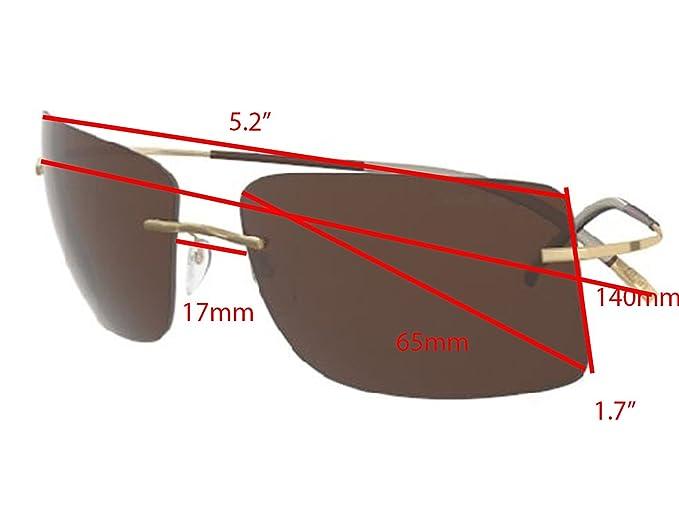 8e439ba11d Amazon.com  Silhouette TMA ICON Sunglasses Titanium Collection Best seller  (matte gold polarized brown lens