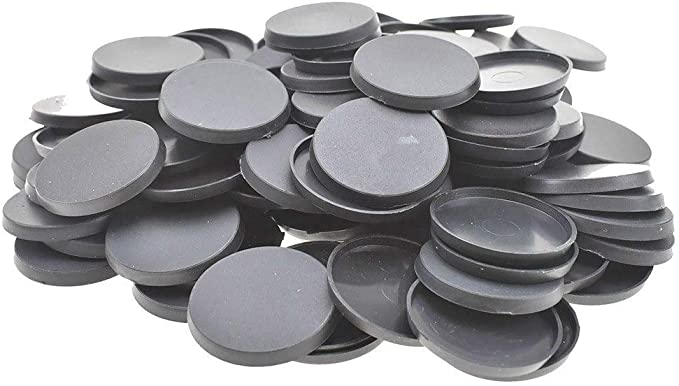 Amazon.com: 100Pcs 32mm Round Plastic Bases for Gaming Miniatures and Table Games by Mercury_Group: Toys & Games