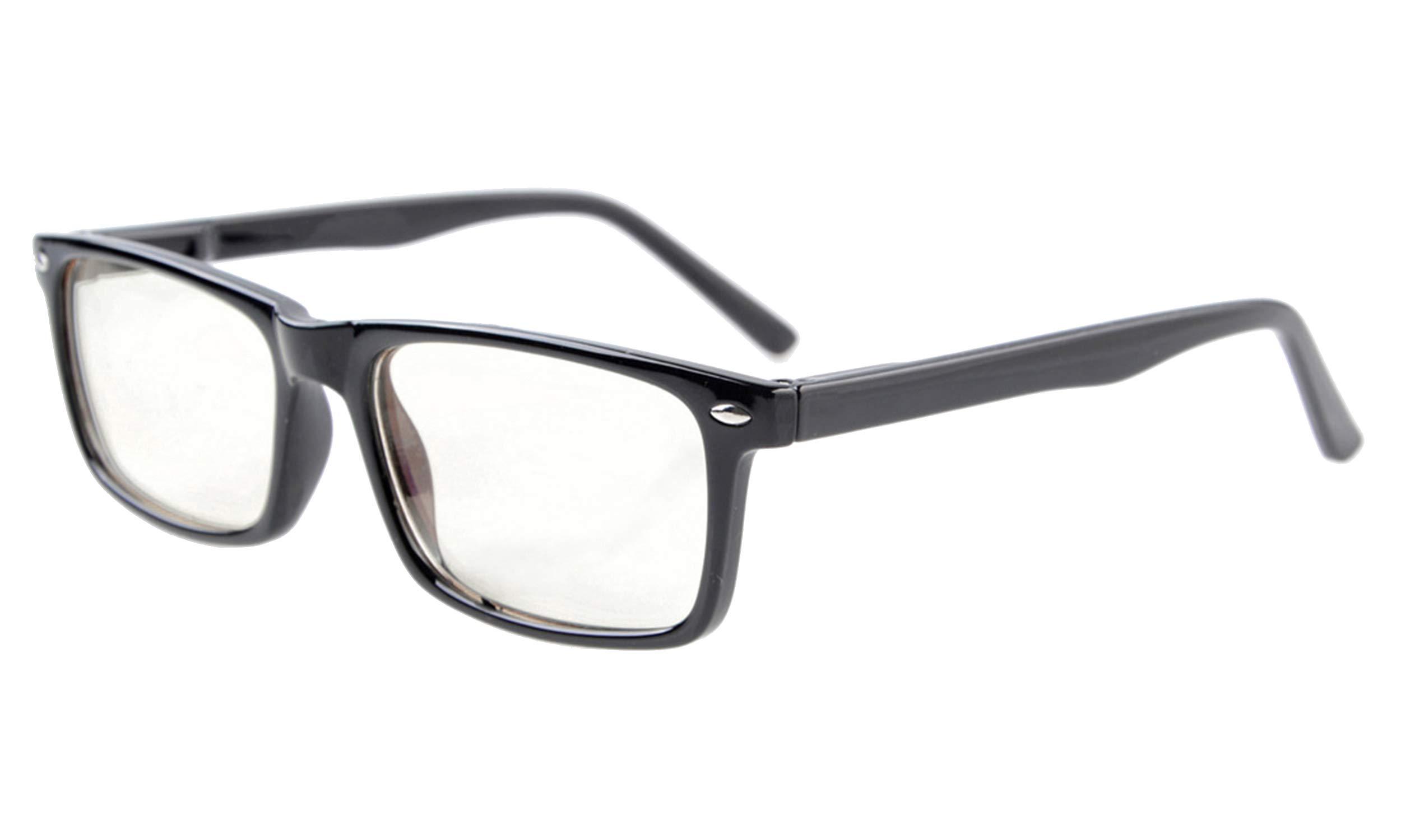 Eyekepper Readers UV Protection, Anti Glare Eyeglasses,Anti Blue Rays, Spring Hinges Computer Eyeglasses Black by Eyekepper