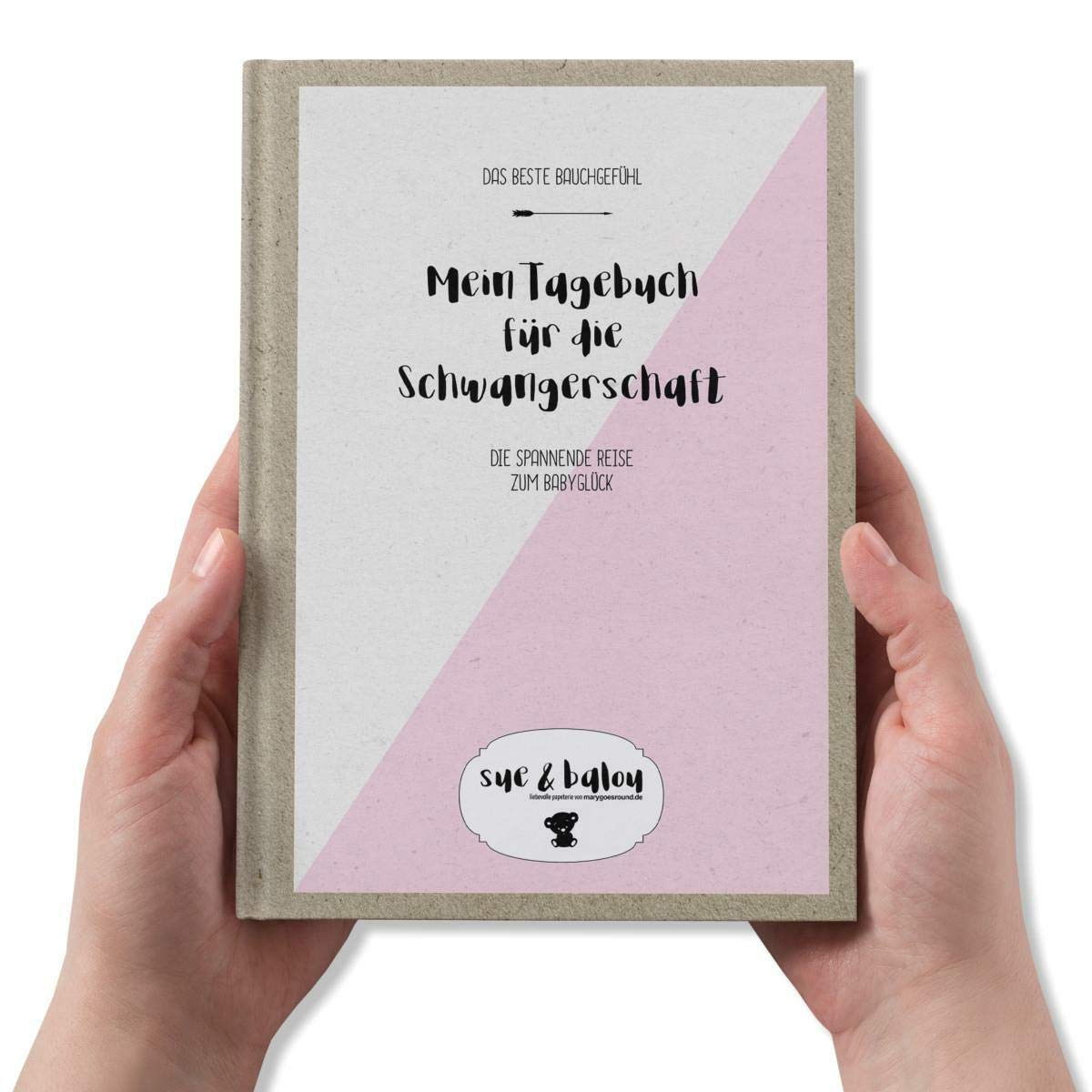Erinnerungsbuch f/ür 9 Monate Bauchgef/ühl Hardcover Format DIN A5 Schwangerschaftstagebuch zum Ausf/üllen und Ankreuzen Kollektion: Sue /& Balou