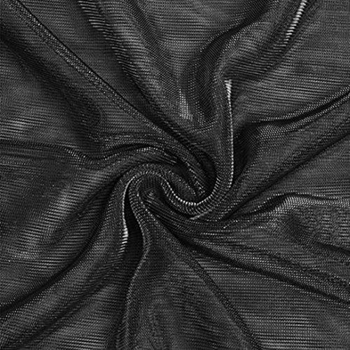 beautyjourney Ragazza Cave Corte Maniche Maglietta Shirt Scollo Donne Nero Camicetta Top Manica estive Rotondo Maglietta Donna Manica Sexy Trasparente Corta Corte T YwArYq