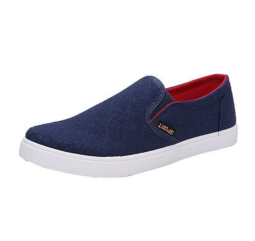 Gaorui Hombre Zapatos Zapatillas Lona Canvas Casual Grid Planos Sneaker Deporte Nuevo: Amazon.es: Zapatos y complementos