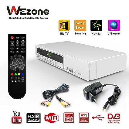 Wezone 8786 TV Satellite Receiver Set Top Box Mpeg-4 HD: Amazon in