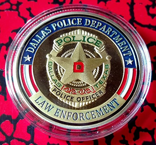(Dallas Police Department Colorized Challenge Art Coin)