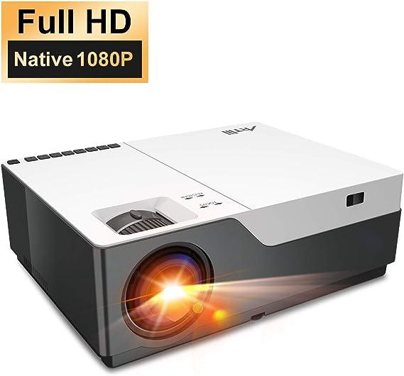 Artlii Performance Videoprojecteur Full HD - Stone, 1080P Natif retroprojecteur, Max 300'' projecteur, 280ANSI lumen projecteur compatible avec TV Stick, PS4, SWITCH, XBOX pour movies,jeu vidéo