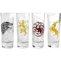 Juego de tronos juego de 4 vasos Stark
