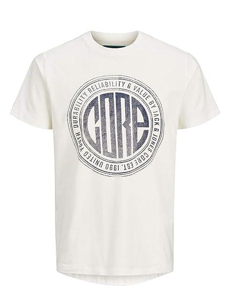 authentisch Super Qualität Brandneu Jack & Jones Core T-Shirt Mens Crew Neck Cotton Chest Print Tee Jcopressure  12145298