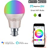 MagicHue WiFi Smart LED Light Bulb - Control Your Lights Anywhere in the World - Dimmable Multicolored Smart Sunrise Sunset LED Lights - Works with Alexa - 60Watts Equivalent bulb B22