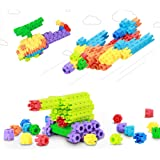 VFunix 積み木 思考力 創造力 応用力を養う知育おもちゃ ブロック パズル 収納バック付き 誕生日 クリスマスプレゼント 入園・入学・進学祝い (300ピース)
