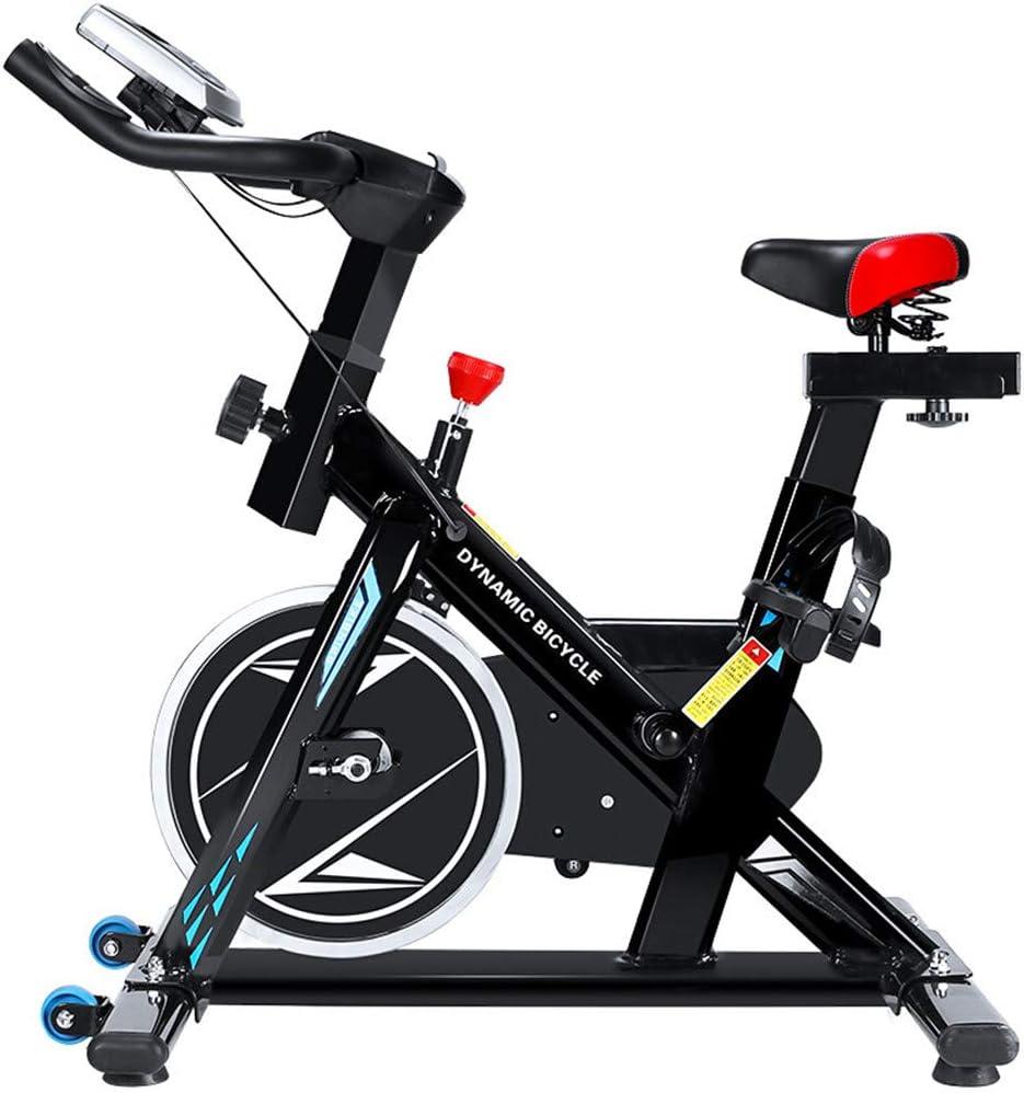 スピニングバイク 屋内サイクリング自転車サイクルトレーナー心拍数フィットネス運動自転車静止エアロバイクで液晶ディスプレイ