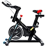 Durable Cycle Trainer Exercise Bicycle Heart Rate Fitness Stationary Exercise Bike With LCD Display Indoor Cycling Bike, Non-slip