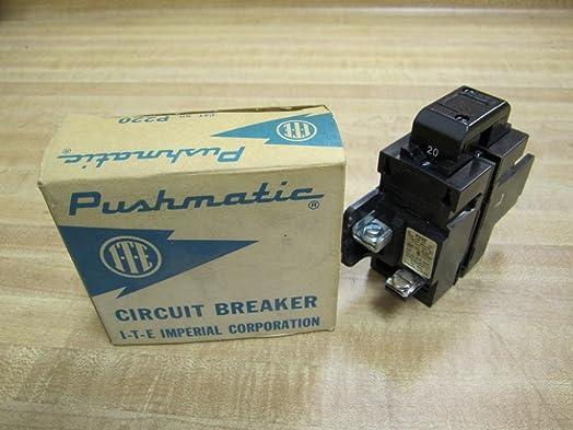 P220 Siemens Pushmatic Bulldog ITE- P Frame, 2 Pole, 240 Volt, 20 Amp, Molded Case Circuit BreakerBreaker