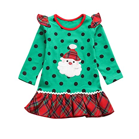 Lavany Christmas Kids Baby Girls Princess Dress Cute Toddler Winter Party Clothes