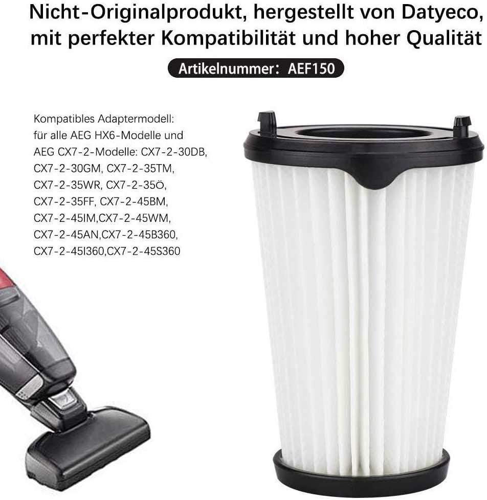 Gcdn 4 Packs Filtro para AEG CX7-2 Aspiradora, con 1 Cepillo ...