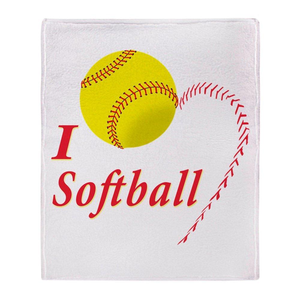CafePress - Girls Softball - Soft Fleece Throw Blanket, 50''x60'' Stadium Blanket