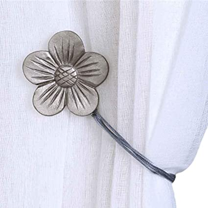 Haus Dekor Fenster Magnet Vorhang Raffhalter Ribbon Rose Blume Drape New