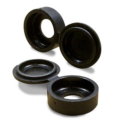 ajile - Embellecedor para tornillo (4 unidades, M3/M4), color negro