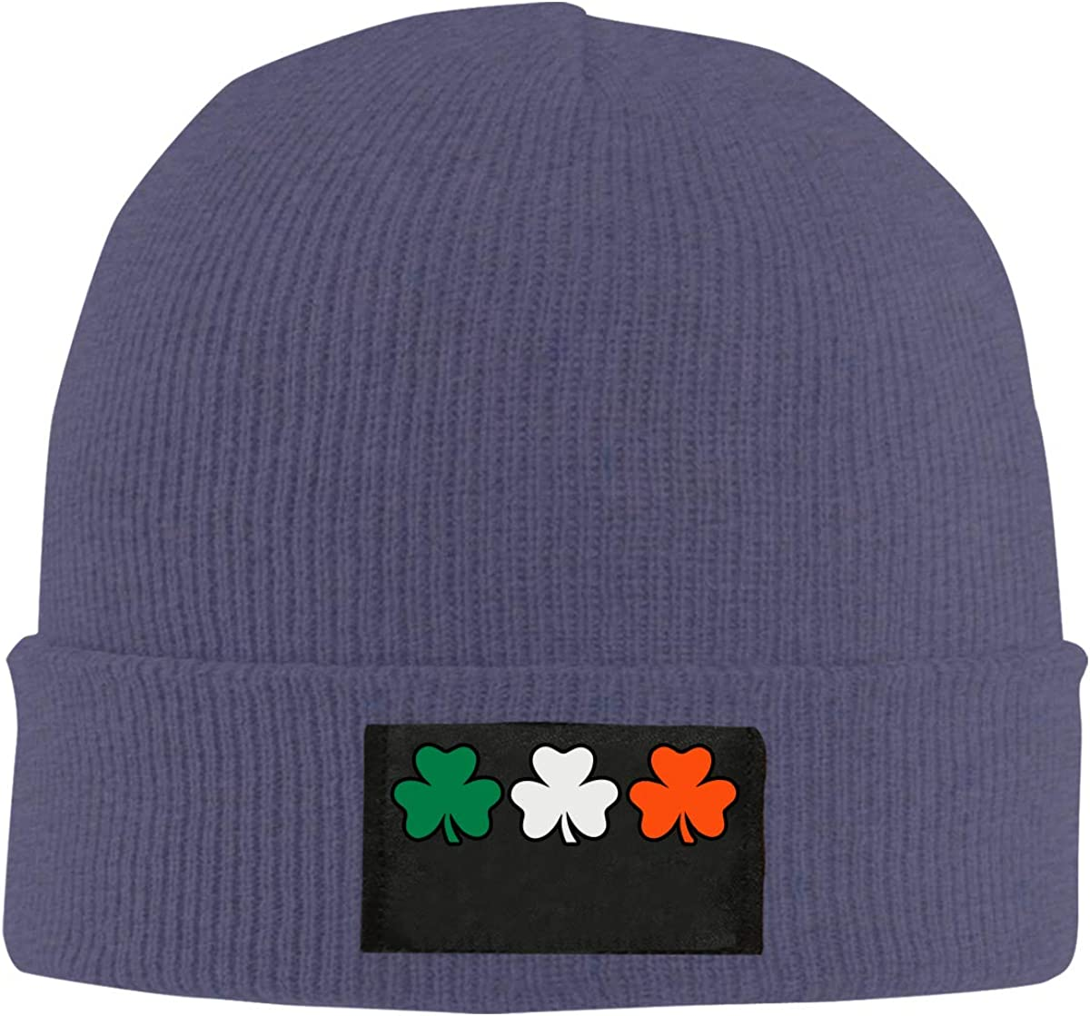 100/% Acrylic Stretch Beanies Cap BF5Y6z/&MA Mens and Womens Ireland Flag Shamrocks Knitted Cap