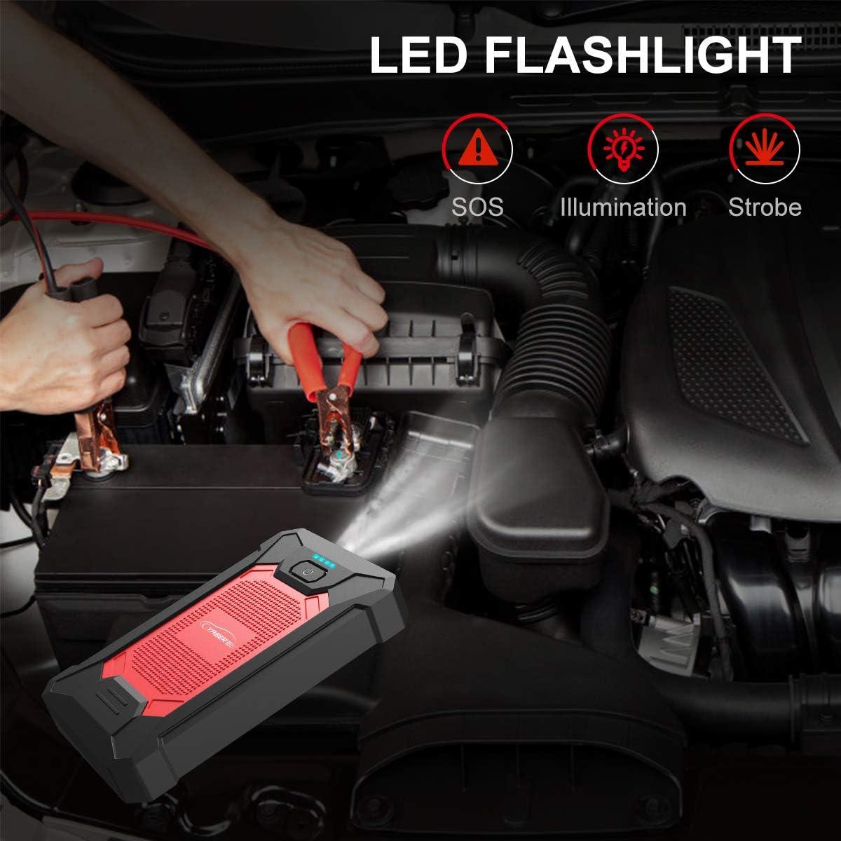 Booster Batterie 12000mah IP66 Auto Voiture Outils Garage Démarrage voiture