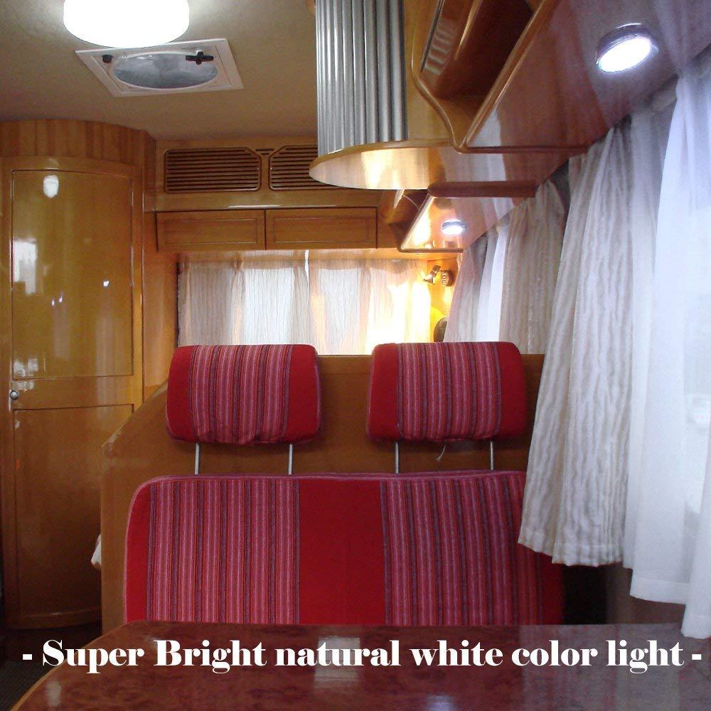 roulotte Sunwan bianco naturale per camper camper Luce interna a LED 10 x 12 V furgoni