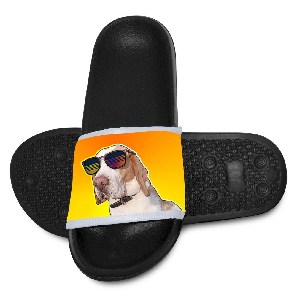 Kids Funny Dogs with Sunglasses Slippers Summer Beach Sandals for Boys Girls