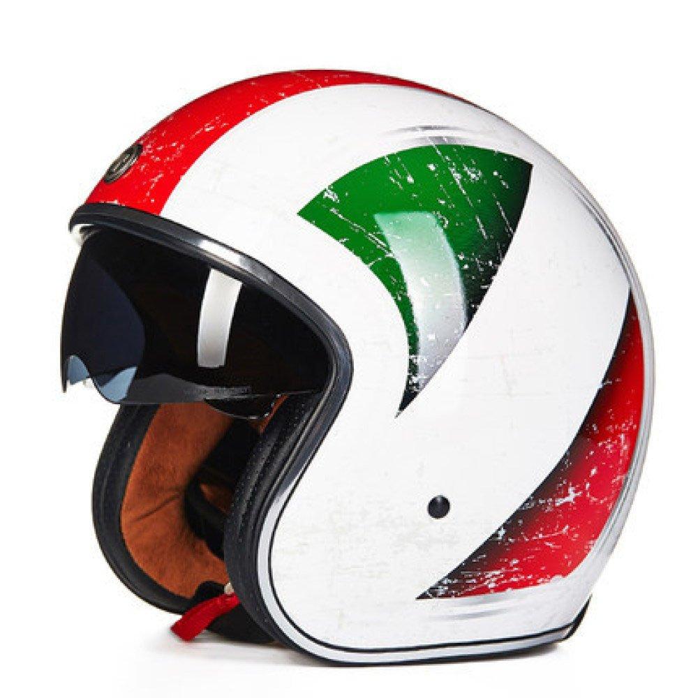 RAQ Sturzhelm im Freienart- und weisehelm ABS-Leichtgewichtler-Motorrad-Fahrrad-Sturzhelm-Sonnenschutzsicherheitsatmungsaktiver vierjahreszeiten-Sturzhelm (Farbe   C, größe   L(57CM-58CM))