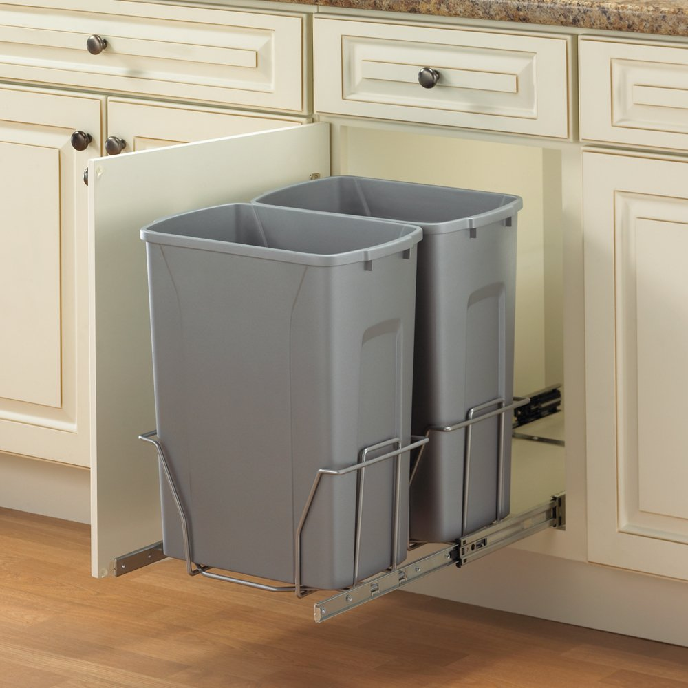 within door cabinet trash can pin in simplehuman kitchen mounted