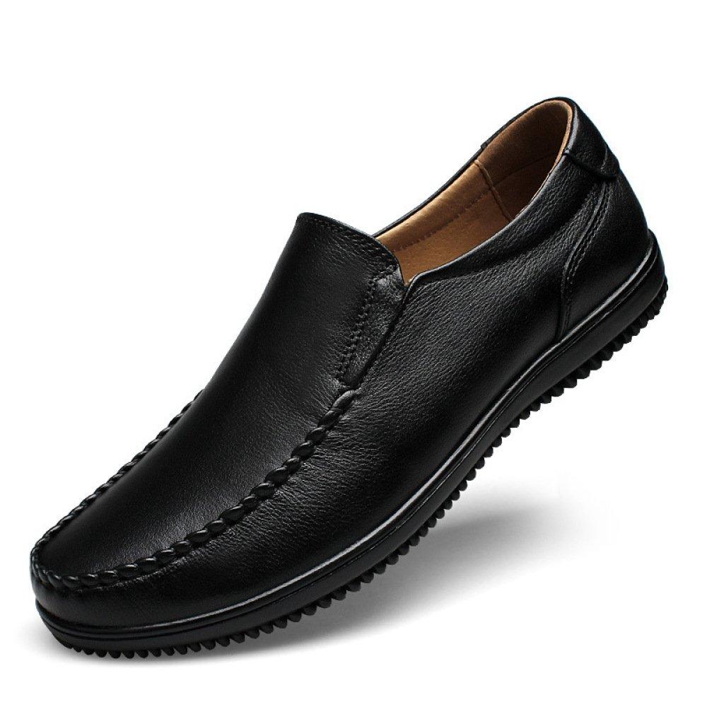 GTYMFH Frühling und Herbst Leder Herrenschuhe Herren Mode Freizeit Schuhe Erbsen Schuhe Sets von Herrenschuhen