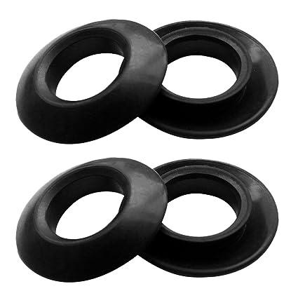 2 Pairs Universal Rubber Kayak Oar Paddle Shaft Drip Rings 30mm Diameter