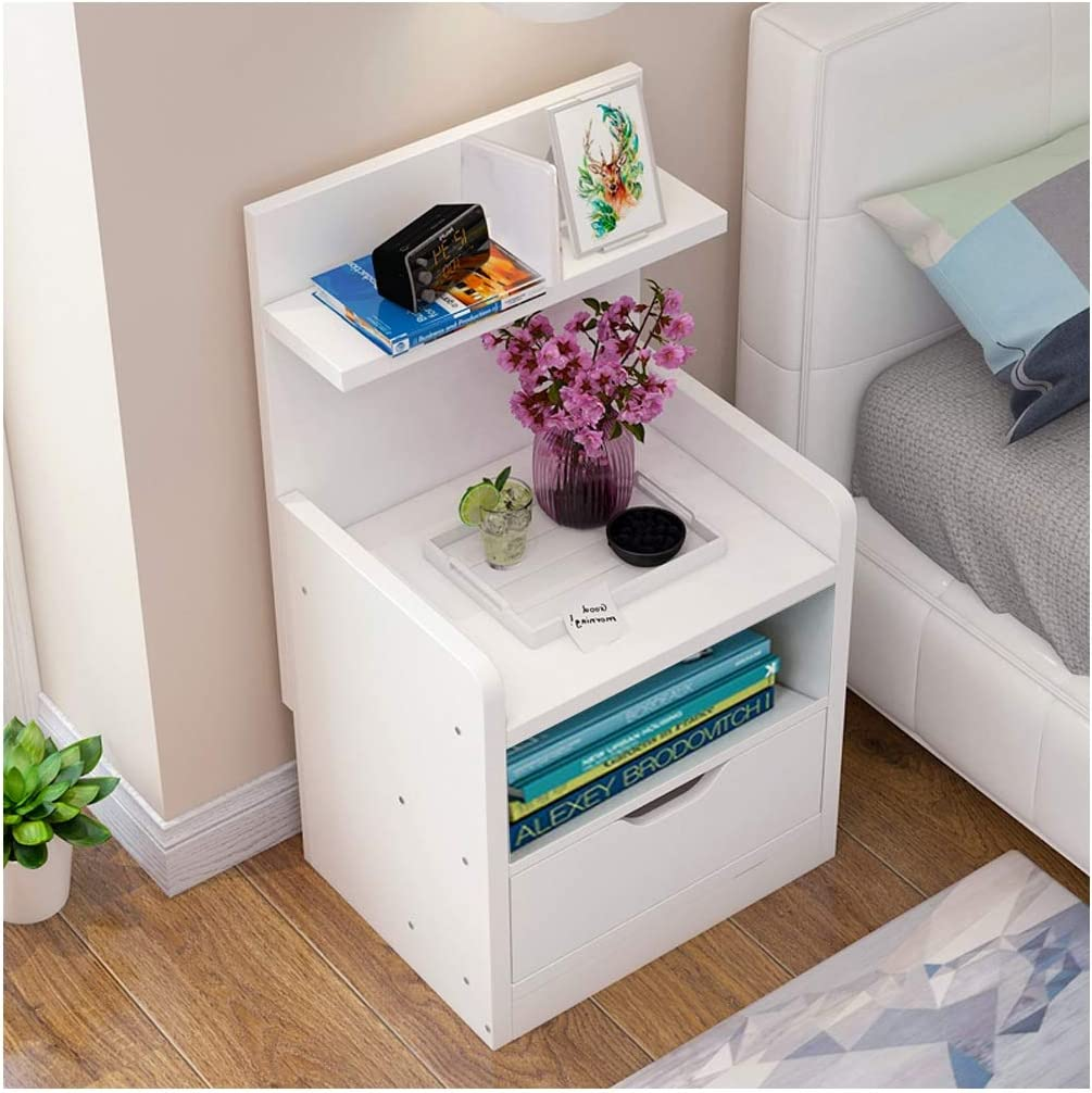 CellDeal Bedside Table Shelf Simple and Contemporary Bedroom ...