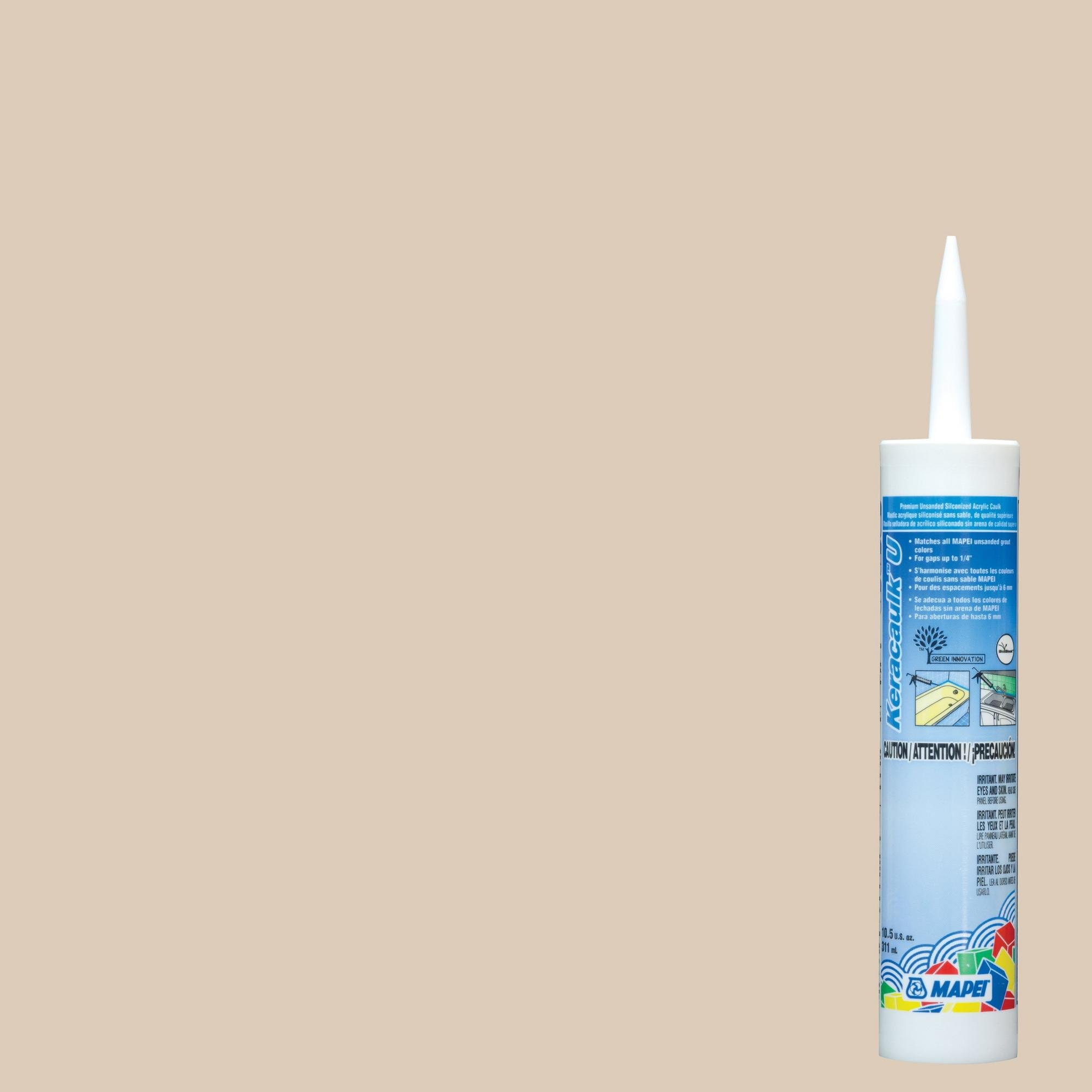 Mapei 49 Light Almond Keracaulk U Unsanded Siliconized Acrylic Caulk by Mapei
