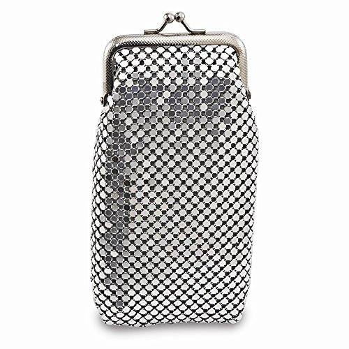 (Best Designer Jewelry Silver-tone Sequin Cigarette Case)