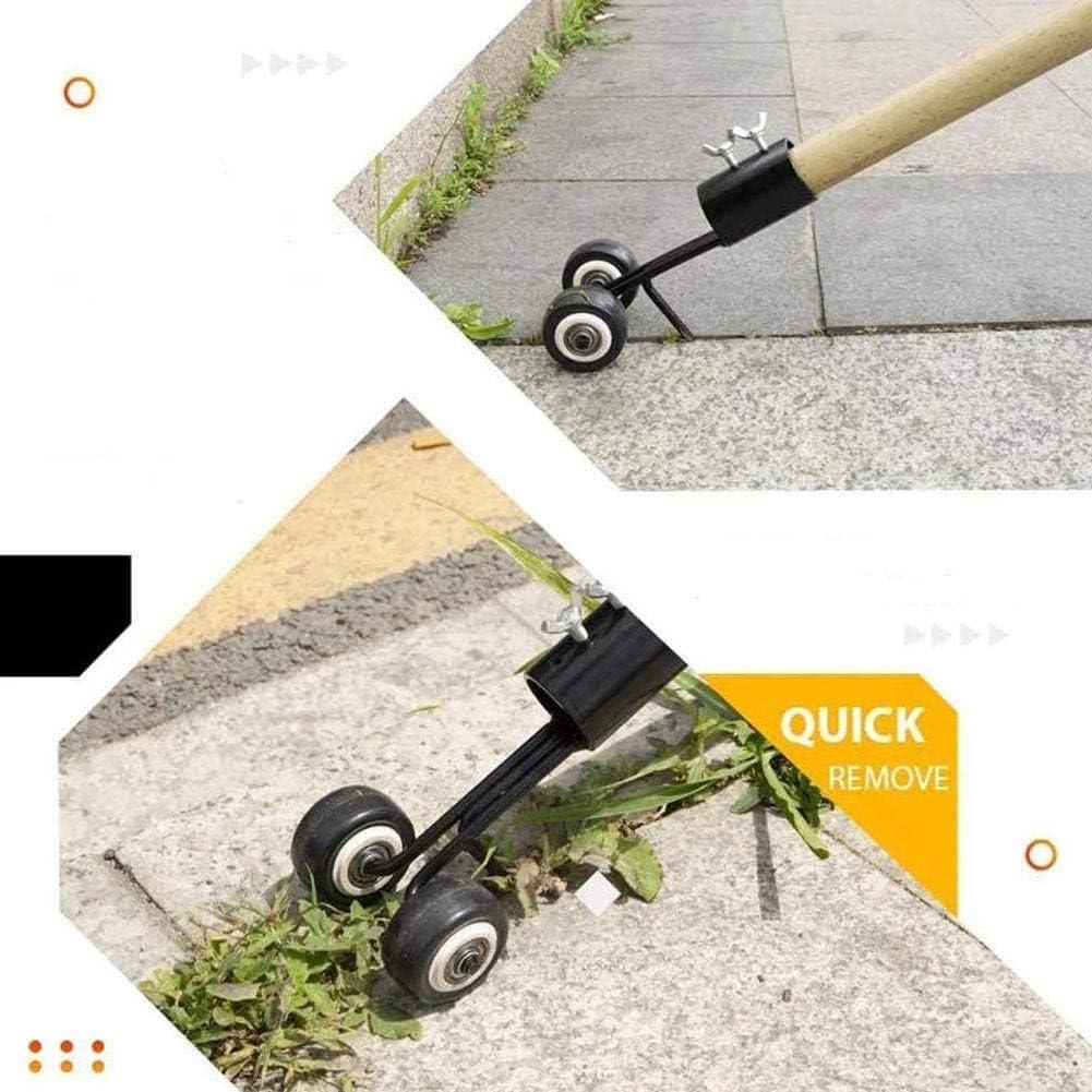 Weeder with Wheel Weed Puller Tool with Long Handle Weed Remover Gardening Weeding Tool