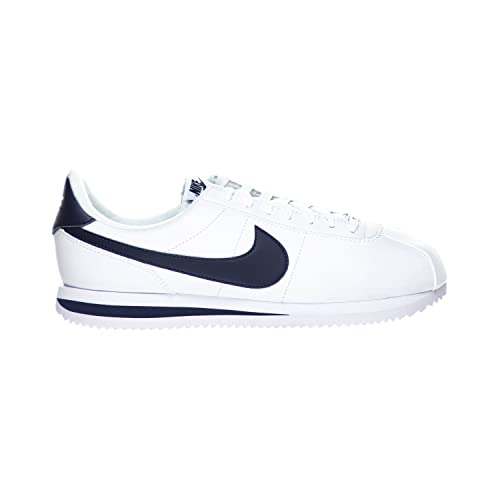 new arrival 589f7 5711c Nike Cortez Basic Leather Men s Shoes White Obsidian Blue 819719-141 (9.5 D