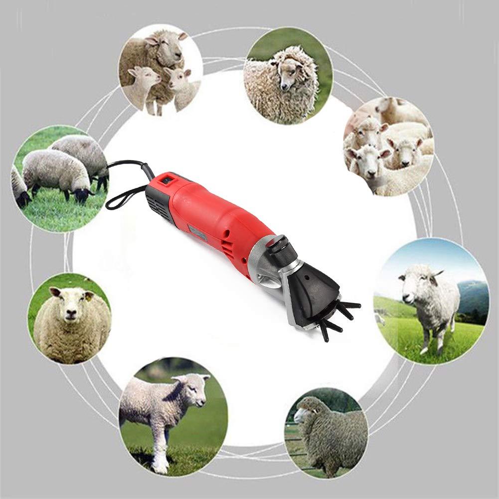 Gtest Tosatrici elettriche Professionali Professionali Professionali per capre, 500W e 6 velocità Regolabili, per Lana da Barba da rasatura in Alpaca, Lama e Altri Animali da Allevamento,US110V dc500e