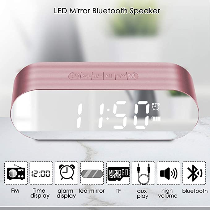Amazon.com: HWTP Multifuncional Digital Mini reloj de alarma ...
