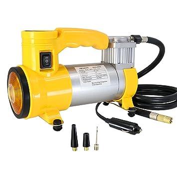 smartspec portátil Super Flow 12 V 150PSI coche bomba compresor de aire con faro: Amazon.es: Coche y moto