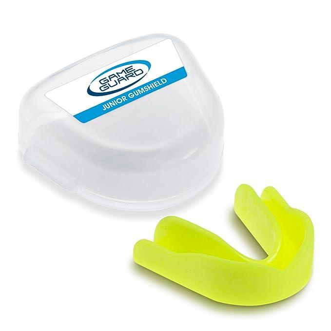 Game Guard Boil & Bite / protector de boca / protector de dientes / protector de encías – amarillo, CE aprobado, ideal para el deporte escolar: Amazon.es: ...