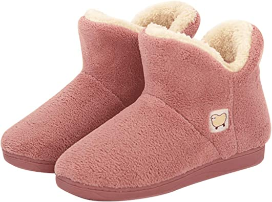 Slippers Womens Warm Indoor Slipper Boots Ladies Booties Size 3 4 5 6 7 8 Purple